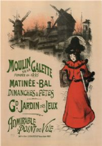 Vintage Moulin de la Galette, Admirable point de Vue , French Advertising Poster.
